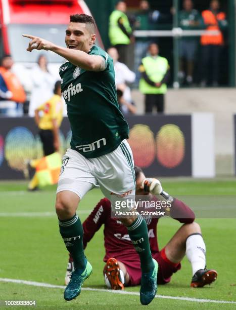 Moises of Palmeiras and Luan of Atletico MG in action during the match between Palmeiras and Atletico MG for the Brasileirao Series A 2018 at Allianz...