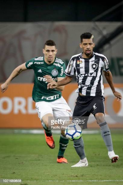 Moisés Roberto Barbosa and Matheus Fernandes during the game between Palmeiras and Botafogo valid game for the 2018 Brazilian championship in Allianz...