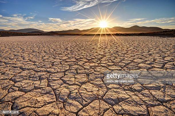 mojave desert sunrise - lake bed stock photos and pictures