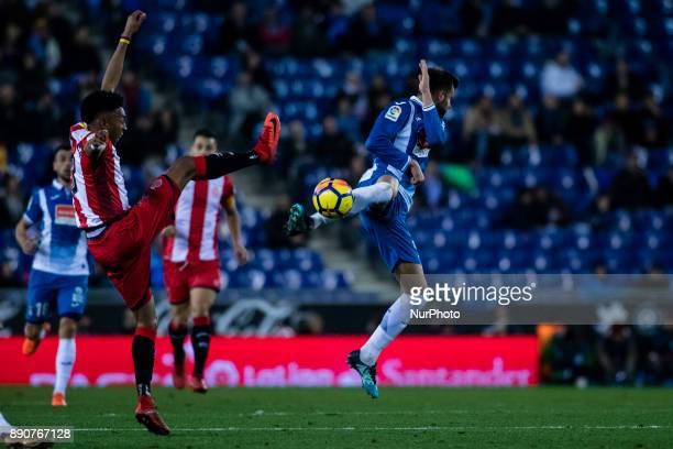 03 Mojica from Colombia of Girona FC during the La Liga match between RCD Espanyol v Girona FC at RCD Stadium on December 11 2017 in Barcelona Spain