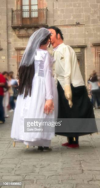 Mojigangas as Bride and Groom