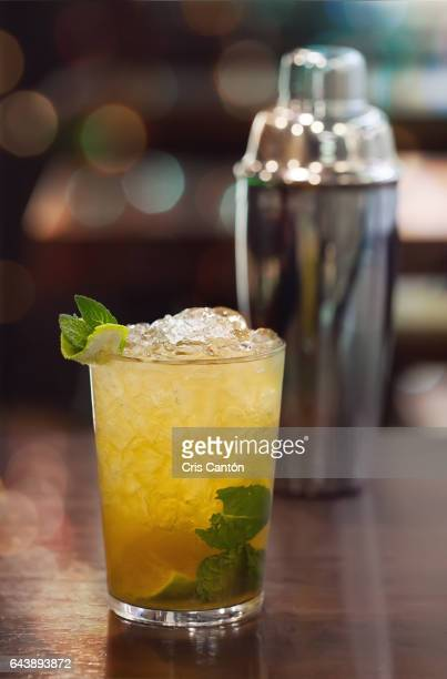 mojito on table - refresco stock photos and pictures