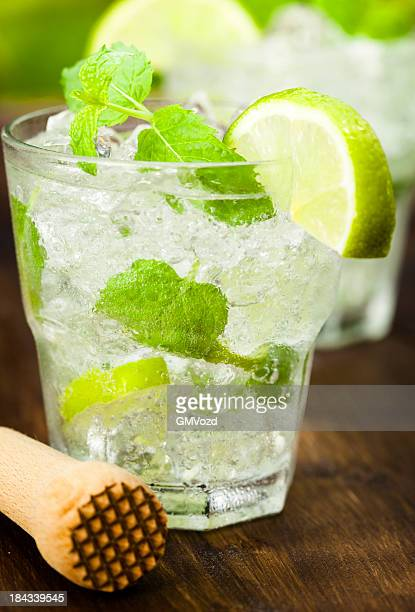 Mojito with White Rum, Lime, Mint and Crushed Ice