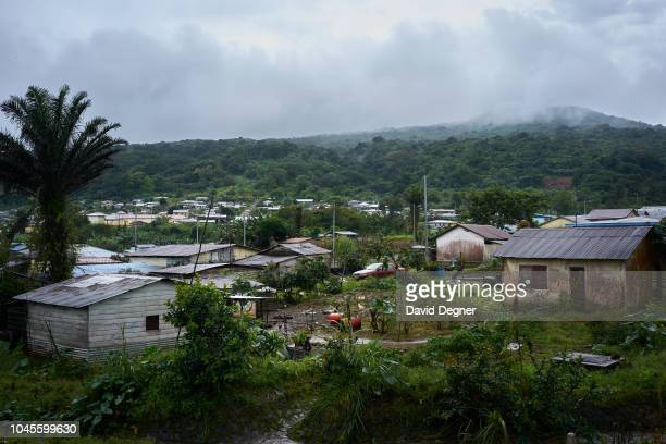 Moka one of the wettest cities in the world sits high in the clouds of Bioko Island on August 21 2018 in Moka Equatorial Guinea The city is...