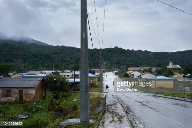 August 21: Moka , one of the wettest cities in the world sits high in the clouds of Bioko Island on August 21, 2018 in Moka, Equatorial Guinea. The...