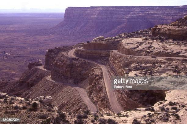Moki Dugway on UT-261 road to Muley Point out of Mexican Hat Utah