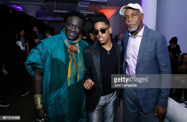 Moko Matthew Whitaker and Danny Glover attend 26th Annual Jazz Foundation of America Loft Party at Hudson Studios on October 14 2017 in New York City