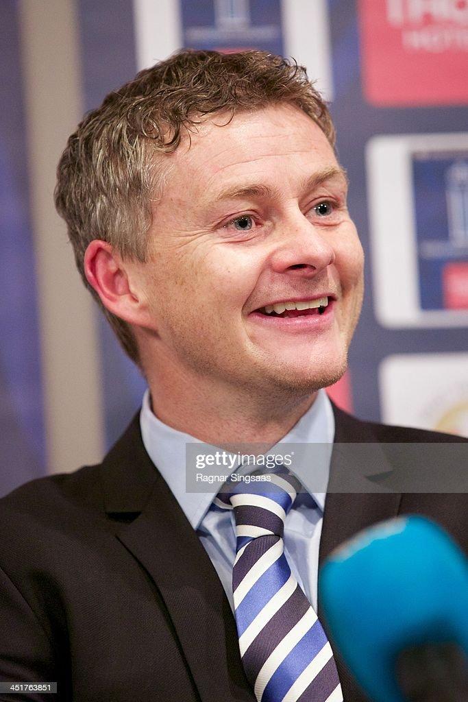 Molde FK head coach Ole Gunnar Solskjaer attends a press ...
