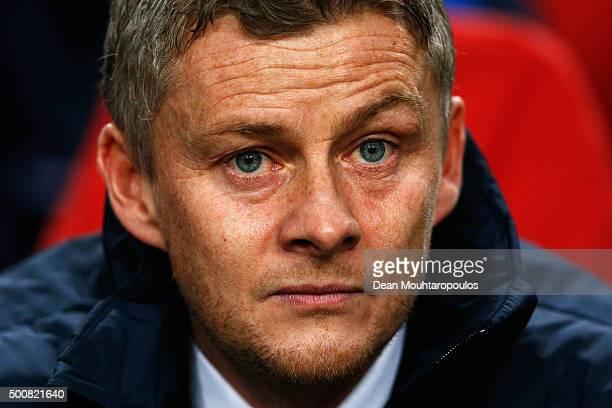 Molde FK Manager / Head Coach Ole Gunnar Solskjaer looks on during the group A UEFA Europa League match between AFC Ajax and Molde FK held at...