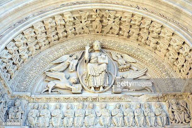 molding architectur of the Arles cathedral France Europe