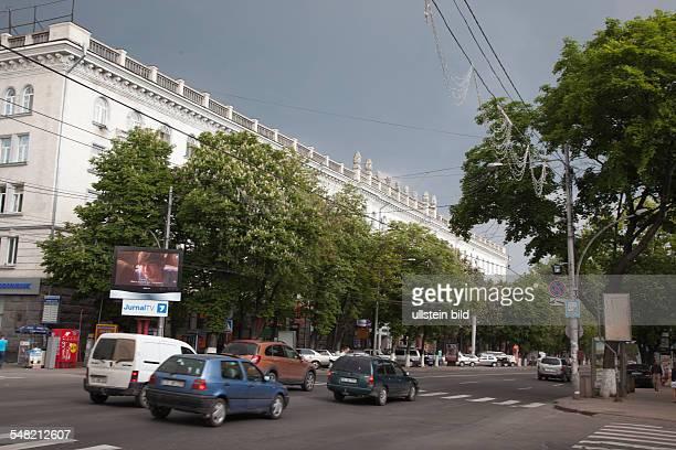 Moldova Chisinau Chisinau - main street Boulevard Stefan cul Mare