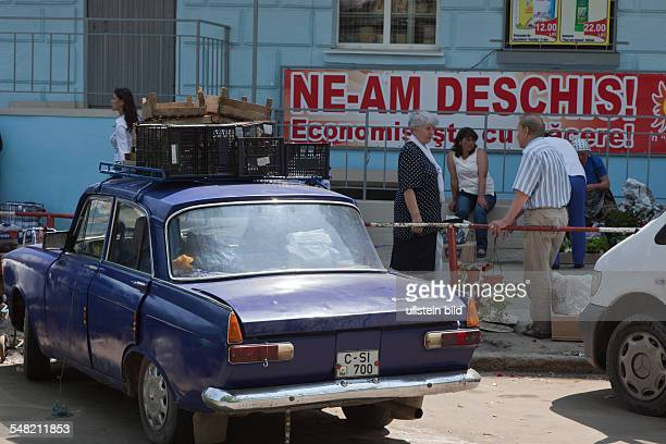 Moldova Chisinau Chisinau old Moskvitch car carrying goods on the roof