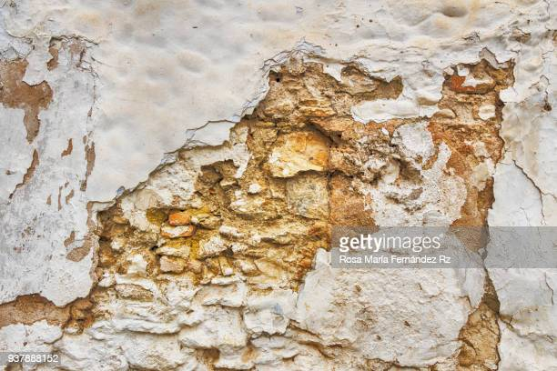 Moldy brick wall background, Worn brick wall, old wall background weathered