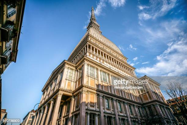 mole antonelliana building in turin, italy - turin stock pictures, royalty-free photos & images