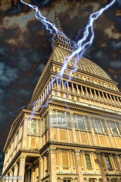 Mole Antonelliana under thunder storm - Turin
