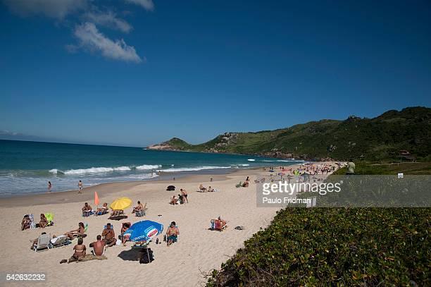 Mole beach in Florianopolis Brazil
