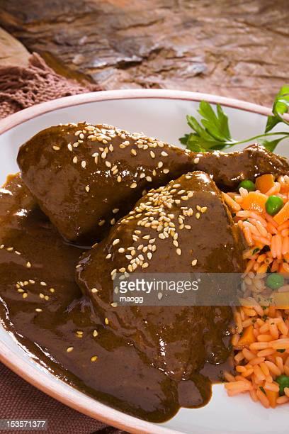 mole poblano - mole stock photos and pictures