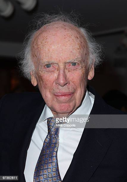 Molecular biologist Dr James D Watson attends the Literacy Partners 26th annual Evening of Readings pregala kickoff at Michael's on March 1 2010 in...