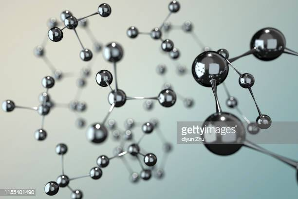 molecule,3d render - atomic imagery stock pictures, royalty-free photos & images
