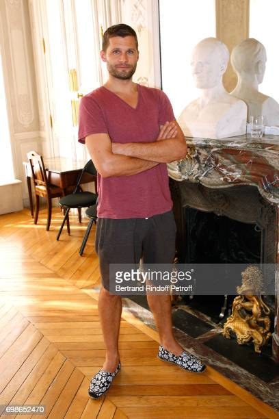 Moliere awarded actor Alexis Michalik attends the 'Caisse d'Epargne IleDeFrance' supports the Ceremony of the Molieres 2017 Party on June 20 2017 in...