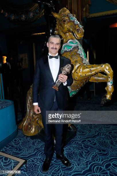 Moliere for Meilleur Comedien dans un second role for Le Canard a l'orange Francois Vincentelli attends the 31eme Nuit des Molieres at Les Folies...
