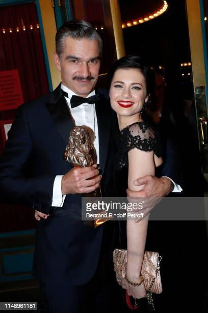 Moliere for Meilleur Comedien dans un second role for Le Canard a l'orange Francois Vincentelli and his wife Alice Dufour attend the 31eme Nuit des...