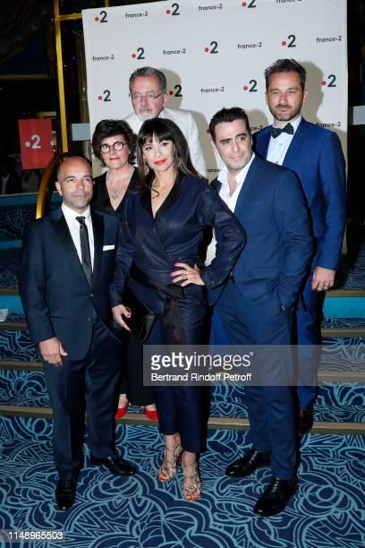 Moliere for Meilleur Metteur en scene d'un spectacle de Theatre public for Le Banquet Mathilda May and team of the piece attend the 31eme Nuit des...