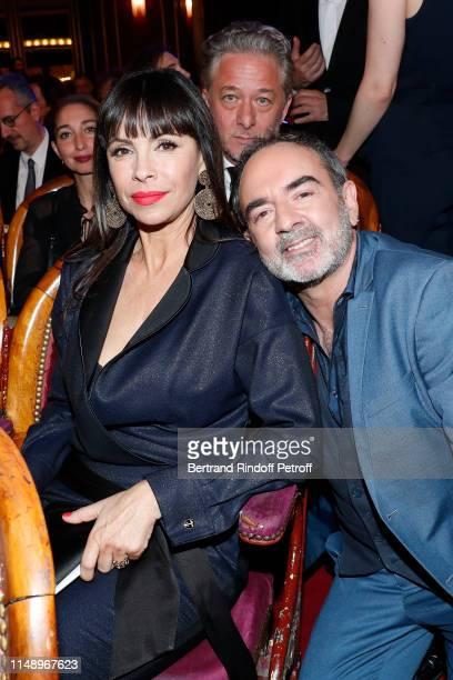 Moliere for Meilleur Metteur en scene d'un spectacle de Theatre public for Le Banquet Mathilda May Nicolas Briancon and Bruno Solo attend the 31eme...