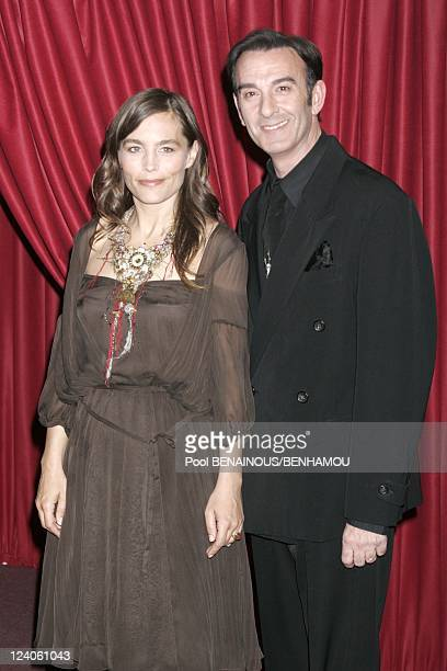 Molieres 2005 ceremony at the Theatre Mogador In Paris France On May 09 2005 Sophie Duez and Robin Renucci