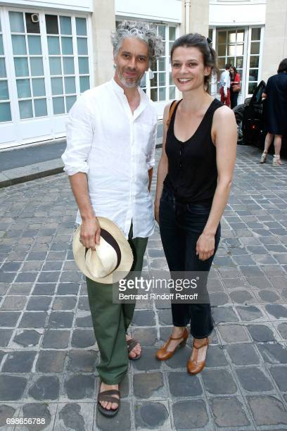 Molieres awarded actors James Thierree and Anna Cervinka attend the Caisse d'Epargne IleDeFrance supports the Ceremony of the Molieres 2017 Party on...