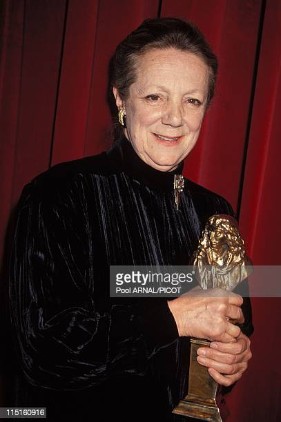 'Molieres' stage Awards Ceremony in Paris France in May 1989 Denise Gence moliere 'Meilleure comedienne' for 'Avant la retraite'