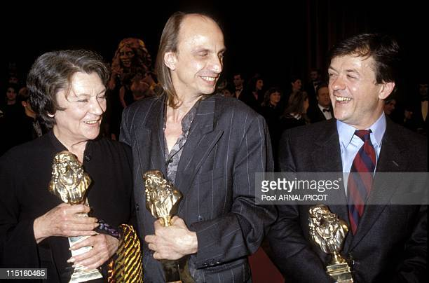 Molieres stage Awards Ceremony in Paris France in May 1989 Gerard Desarthe Maria Casares