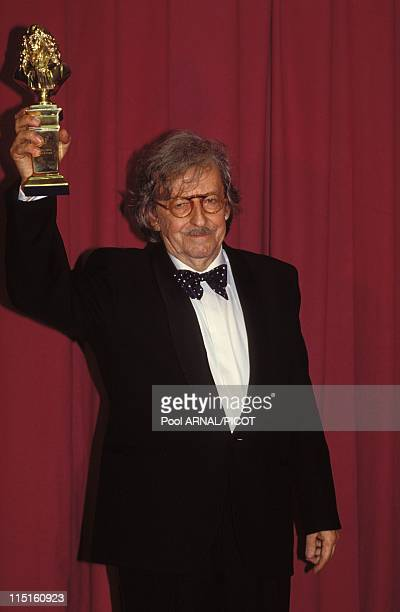 'Molieres' stage Awards Ceremony in Paris France in May 1989 Henri Virlojeux moliere 'Meilleur comedien' for 'L'antichambre'