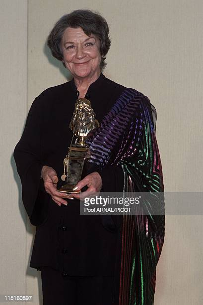 Molieres stage Awards Ceremony in Paris France in May 1989 Maria Casares moliere Meilleure comedienne for Hecube