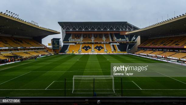 Molineux stadium home of Wolverhampton Wanderers prior to kick off of the Sky Bet Championship match between Wolverhampton Wanderers and Newcastle...