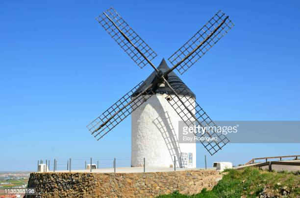 molinos de viento (windmills) - consuegra - traditional windmill stock photos and pictures