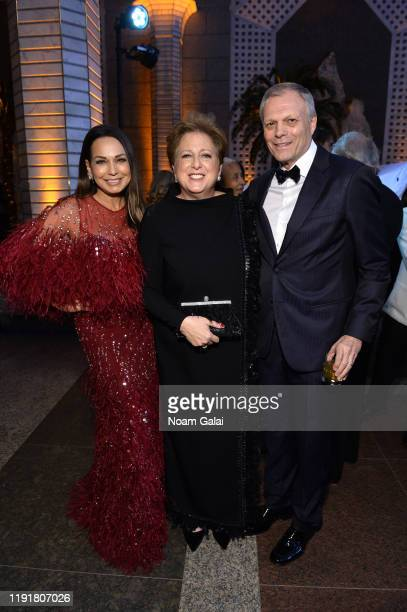 Moll Anderson Caryl M Stern and Charlie Anderson attend the 15th Annual UNICEF Snowflake Ball 2019 at Cipriani Wall Street on December 03 2019 in New...