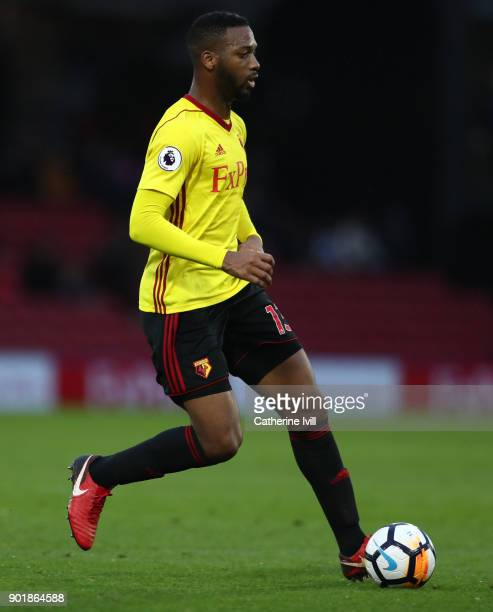 Molla Wague of Watford during the Emirates FA Cup Third Round match between Watford and Bristol City at Vicarage Road on January 6 2018 in Watford...