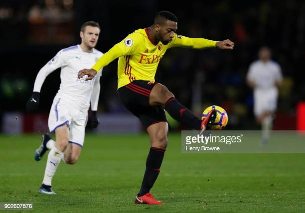 Molla Wague of Watford during the Premier League match between Watford and Leicester City at Vicarage Road on December 26 2017 in Watford England