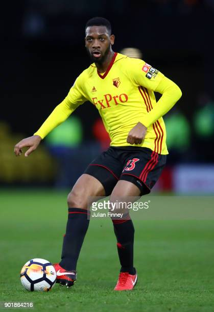 Molla Wague of Watford in action during The Emirates FA Cup Third Round match between Watford and Bristol City at Vicarage Road on January 6 2018 in...