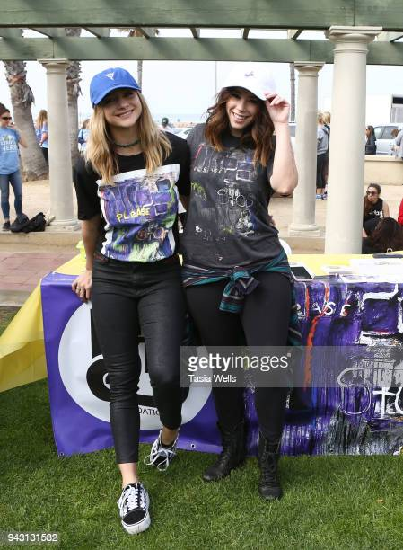 Mollee Gray and Jillian Rose Reed attend the Los Angeles NEDA Walk on April 7 2018 in Santa Monica California