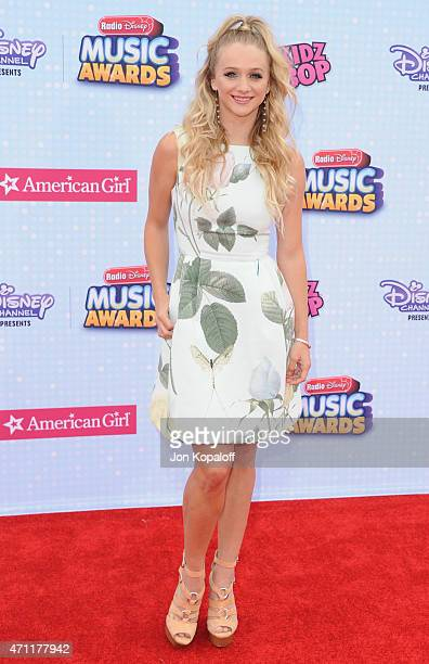Mollee Gray arrives at the 2015 Radio Disney Music Awards at Nokia Theatre LA Live on April 25 2015 in Los Angeles California