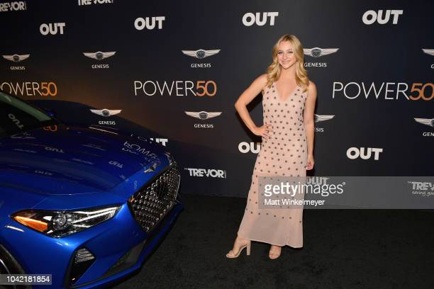Mollee Gray attends OUT Magazine's Power 50 Award Celebration Presented By Genesis at NeueHouse Los Angeles on September 27 2018 in Hollywood...
