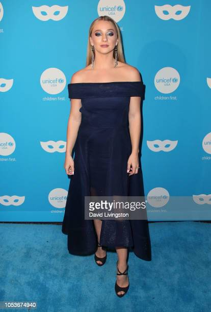Mollee Gray attends the Sixth Annual UNICEF Masquerade Ball at Clifton's Republic on October 25 2018 in Los Angeles California