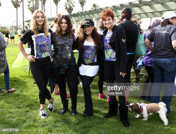 Mollee Gray Jillian Rose Reed Brooke Lewis and Carolyn Hennesy attend the Los Angeles NEDA Walk on April 7 2018 in Santa Monica California