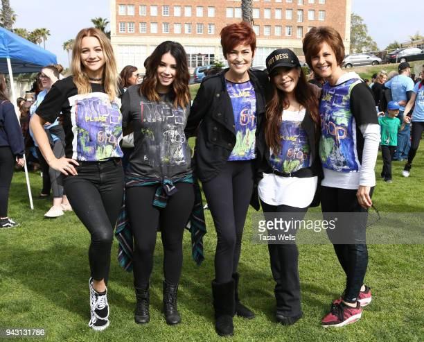 Mollee Gray Jillian Rose Reed Carolyn Hennesy Brooke Lewis and Debra Hopkins attend the Los Angeles NEDA Walk on April 7 2018 in Santa Monica...