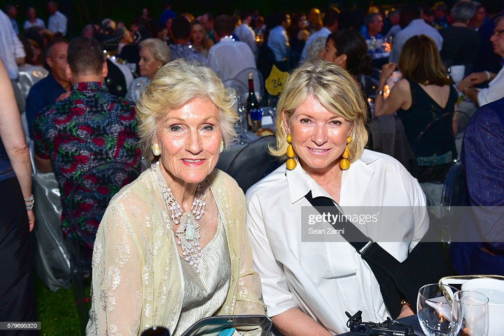 Mollie Chappellet and Martha Stewart attend LongHouse Reserve 2016 Jubilee Year Summer Benefit, Serious Moonlight at LongHouse Reserve on July 23, 2016 in East Hampton, NY.