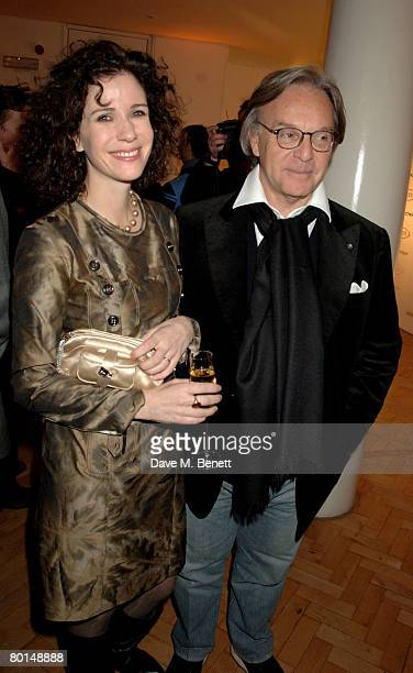 Mollie Dent-Brocklehurst and Diego Della Valle attend the TOD's Art Plus Film Party, at 1 Marylebone Road on March 6, 2008 in London, England.