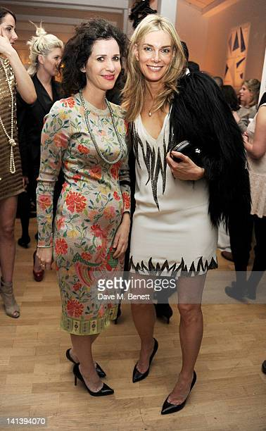 Mollie DentBrocklehurst and Kim Hersov attend the Swarovski Whitechapel Gallery Art Plus Opera fundraising gala in support of the gallery's education...