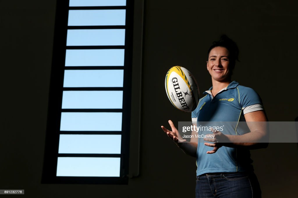 Mollie Gray of the Wallaroos poses after a Rugby Australia press conference at the Rugby Australia Building on December 13, 2017 in Sydney, Australia.